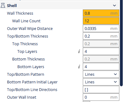 Wall thickness setting - potential changes - Printing advice