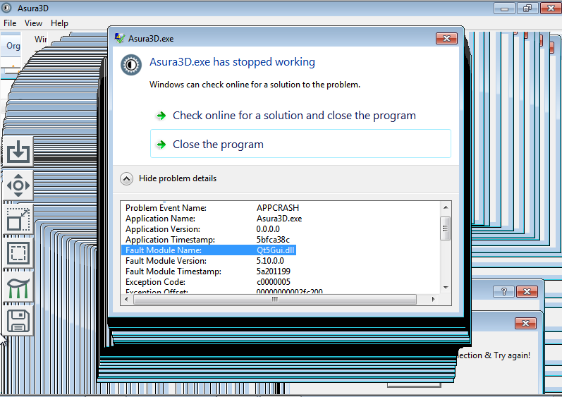 Issues with Asura3D under windows 7 in Virtualbox - Software